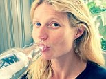 Bare-faced: Gwyneth Paltrow Instagramed a make-up free selfie on Saturday