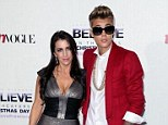 Side by side: Justin Bieber is reportedly paying the $8,000 a month rent on mother Pattie Lynn Mallette's Los Angeles home