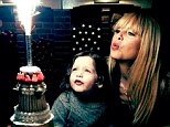Big boy: Rachel Zoe posted a picture of her and son Skyler blowing on a cake on his third birthday in NYC on Friday