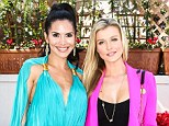 Bold and beautiful! Real Housewives Joanna Krupa and Joyce Giraud flaunt their figures in brightly-coloured low-cut looks