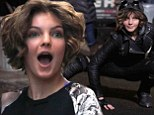 Kitten's got claws! Camren Bicondova transforms into schoolgirl Catwoman on set of Gotham