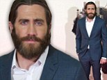 Giving us a hint? A bearded Jake Gyllenhaal makes sure to look identical to his character on the red carpet for film Enemy