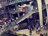 Steve-O no! Jackass star does dangerous backflip off San Antonio bridge into four-foot deep water