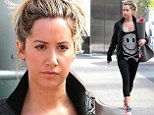 So that's how she stays so slim! Ashley Tisdale headed to yoga in Beverly Hills on Thursday