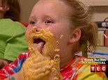 Cheese fan: Honey Boo Boo didn't hold back once she got her hands on some cheese