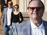 Eye see you! Jack Nicholson and his daughter Lorraine show off their set of sunglasses while out and about at Barney's