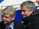 Snub: Jose Mourinho made no mention of Arsene Wenger's 1000 game milestone in his programme notes