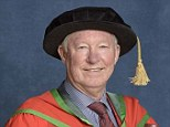 Proud moment: Sir Alex Ferguson has received an honorary degree for his outstanding contribution to football