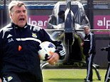 Ready for lift off against United, Big Sam? Chairman Gold pays flying visit as Hammers eye another upset for Moyes