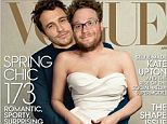 'Love you, dog!' James Franco recreated his very own Vogue cover, starring himself as Kanye and Seth Rogan as Kim