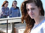 Mother-daughter bonding: Kristen Stewart sports a rare smile as she films scenes with on-screen mom Julianne Moore for new movie Still Alice