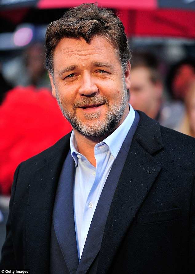 Russell Crowe attends the UK Premiere of 'Man of Steel' in London on June 12, 2013