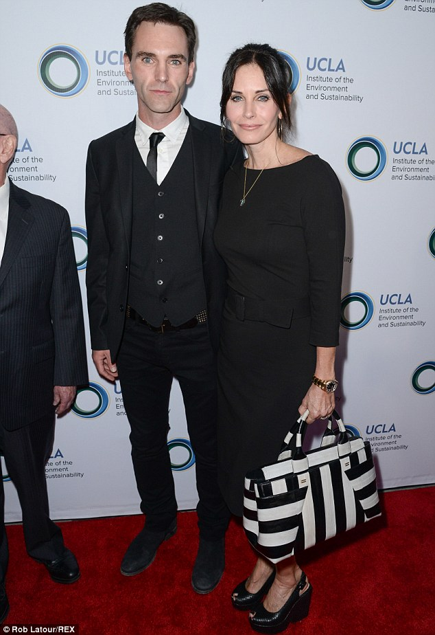 Can't get enough of each other! Courteney Cox and Johnny McDaid arrived arm-in-arm to An Evening of Environmental Excellence in Los Angeles on Friday