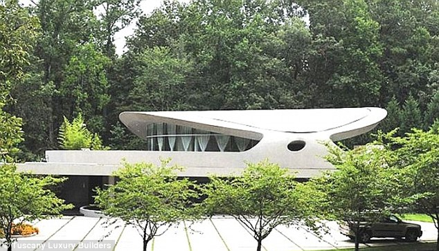 Spacious: Bieber is currently renting this Atlanta property from record producer Dallas Austin