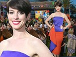 She's looking Rio nice! Anne Hathaway stuns in exotic purple and orange ensemble while at the sequel's premiere in Miami