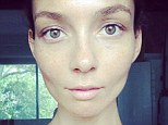 Make-up free: Ricki-Lee Coulter uploaded a photo of her bare face on Instagram, but was met with criticism from some users who said she was promoting 'thin-spiration'