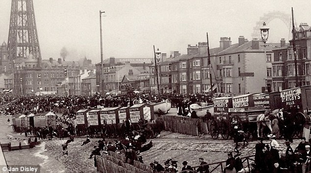 Bathing machines set up in the 1890s, when bizarre rules regarding modesty and proximity to members of the opposite sex were incredibly strict, coming with a hefty fine