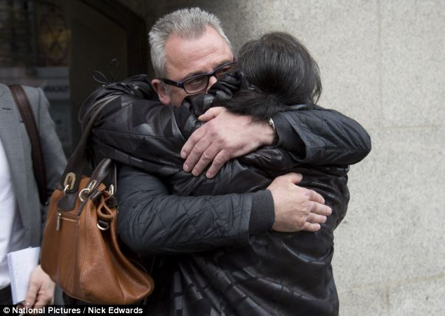 Ted Terry put on a public display of relief after being cleared of racist abuse at the Old Bailey