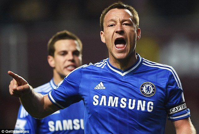 No mention: Like his boss, Chelsea captain John Terry made no comment on Wenger's achievement