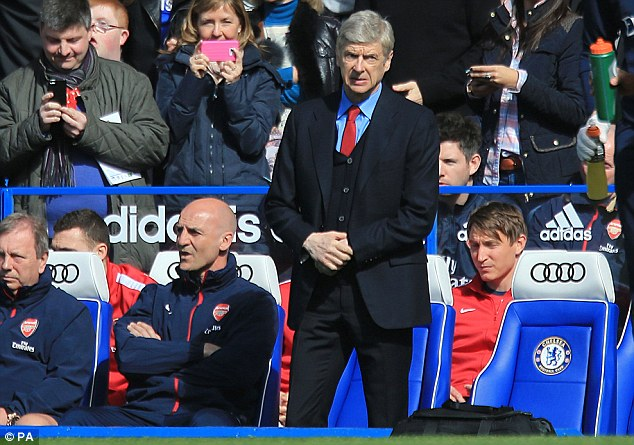 Milestone: Arsenal's clash with Chelsea was Wenger's 1,000th game in charge of the Gunners