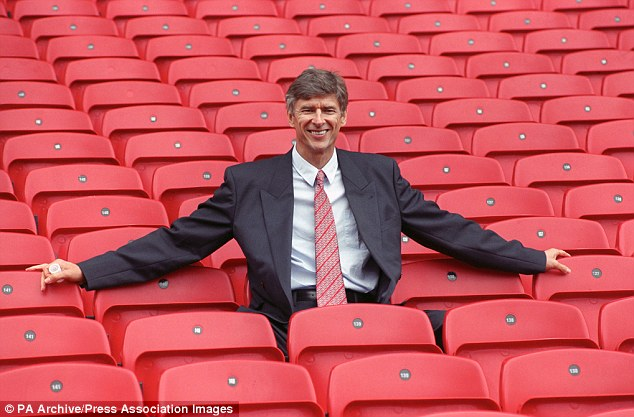 The early days: Wenger arrived at Arsenal in 1996