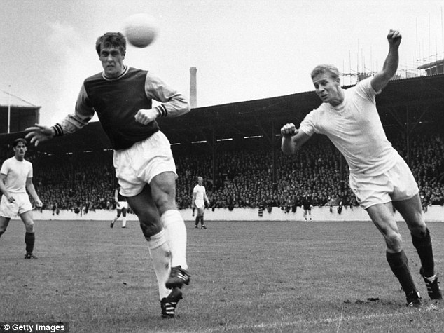 Hit man: Hurst scored 242 goals in 500 games for West Ham, and 24 times for England