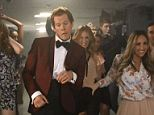 Lord of the dance: The trim, dapper actor led a group of dancers in a choreographed routine in tribute to the final party scene in 'Footloose'