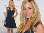 Camille Grammer is the picture of health in glittering flared frock at charity event just five months after cancer surgery