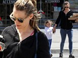 Cheat day! Jennifer Garner grabbed pizza with her daughter Seraphina in Santa Monica, California on Friday