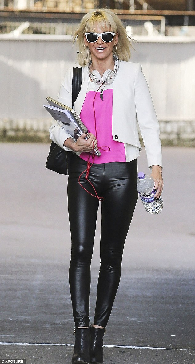 Trim pins: Sarah Harding looked in formidable form in a pair of unforgiving skin-tight lycra leggings as she left a north London recording studio on Saturday where she was rehearsing ahead of Wednesday's first solo live gig at Islington's O2 Academy
