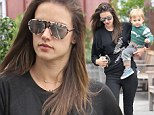 'My joy!' Alessandra Ambrosio gets an arm workout as she carries growing son while shopping after posting loving snap together