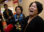 Emotions: A relative of Chinese passengers aboard the missing Malaysia Airlines, MH370