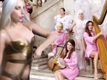Lady Gaga recruits Real Housewives Of Beverly Hills as her backing band before stripping down to revealing gold bodysuit in new video G.U.Y.
