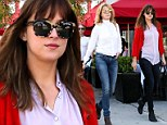 She got it from her momma! Dakota Johnson and mom Melanie Griffith show style runs in their blood as they step out in chic ensembles