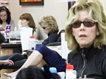 Jane Fonda indulges in a spot of relaxation as she treats herself to a mani-pedi at nail salon