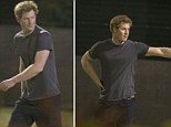 Fortunately it seems that an evening kickabout with a few close mates is still something Prince Harry can enjoy