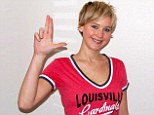 Hometown pride: Jennifer Lawrence showed off her support for the Louisville Cardinals in this Twitter pic - right in time for the collegiate basketball tournaments of March Madness
