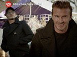 'Play it nice and cool son, nice and cool': David Beckham delights fans as he recreates famous Only Fools and Horses bar fall for Sport Relief 2014