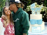 'It's a boy!' Ciara and fiancé Future officially confirm their happy news as they celebrate baby shower with a blue-themed garden party
