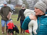 Peter and Autumn Phillips with children Savannah and Isla