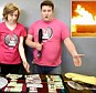 Calgary, Canada radio shows hosts  Ryan Lindsay (right) and Katie Summer burned $5,000 after a majority of listeners decided the money should be incinerated rather than given away