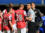 Gaffe: Referee Andre Marriner says he is devastated at the sending off of Kieran Gibbs