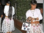 It's just dinner! Rihanna goes for the shock factor as she wears a COMPLETELY sheer skirt over bright pink underwear for a quiet evening out