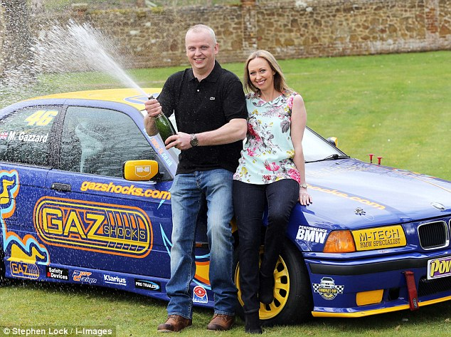Neil Trotter (pictured with partner of eight years Nicky Ottaway), is celebrating banking a massive £107,932,603.20 EuroMillions jackpot