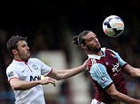 Upton spark: United returned to winning ways in the Premier League with a 2-0 victory over West Ham