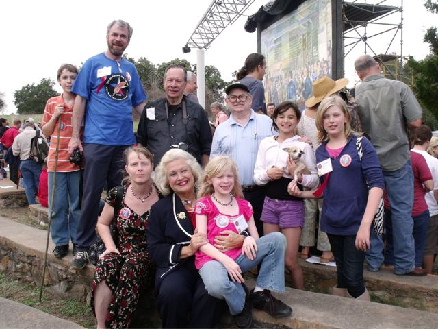 Texas Heritage Society Members at 175th Texas Birthday Celebration