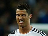 Not impressed: Ronaldo shows his frustration as the games starts to slip away from Real Madrid