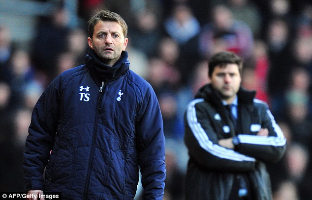 Opponents: Tim Sherwood claims no one will want to play Tottenham now they are beginning to find form
