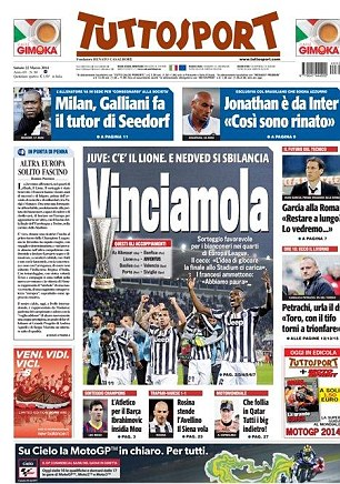 Tuttosport: Let's go and win in
