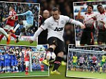 Top that: Wayne Rooney topped all the action of Saturday with a wonder goal at Upton Park